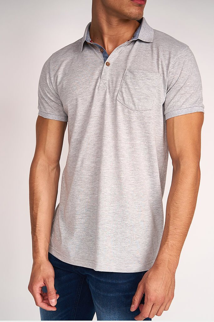 Grey Marl Mens Short Sleeve T-Shirt view 4