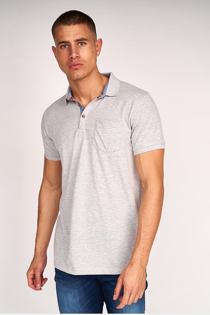 Grey Marl Mens Short Sleeve T-Shirt