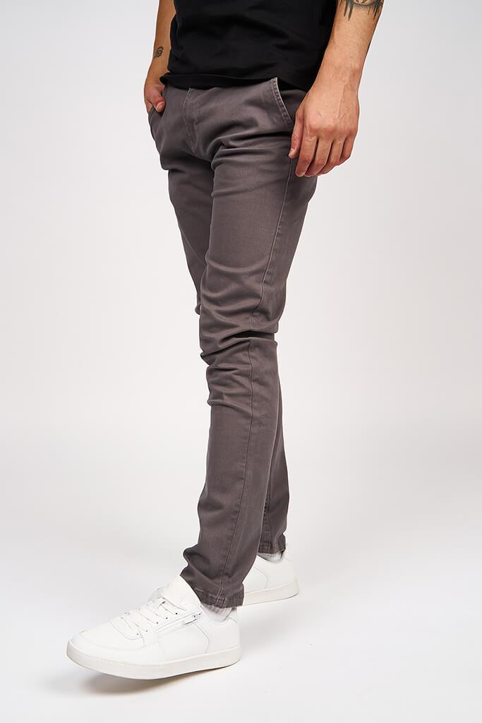 Multi Mens Kelso Charcoal Chino Stretch