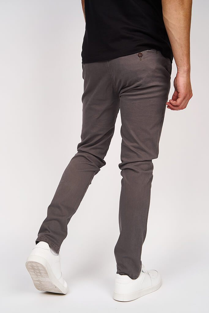 Multi Mens Kelso Charcoal Chino Stretch view 5