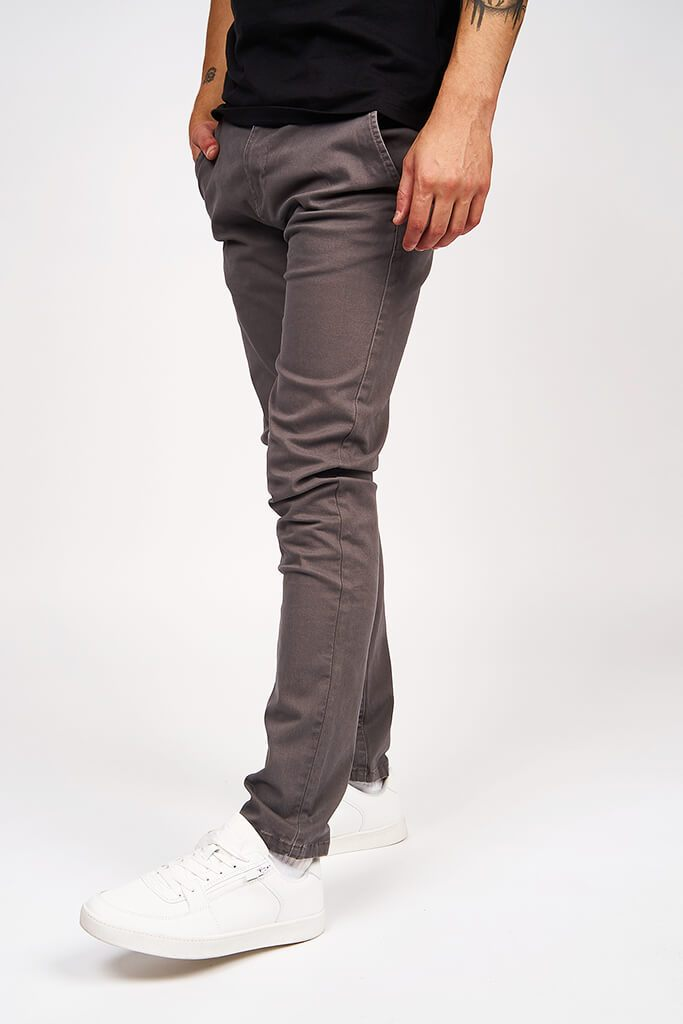Multi Mens Kelso Charcoal Chino Stretch view 2