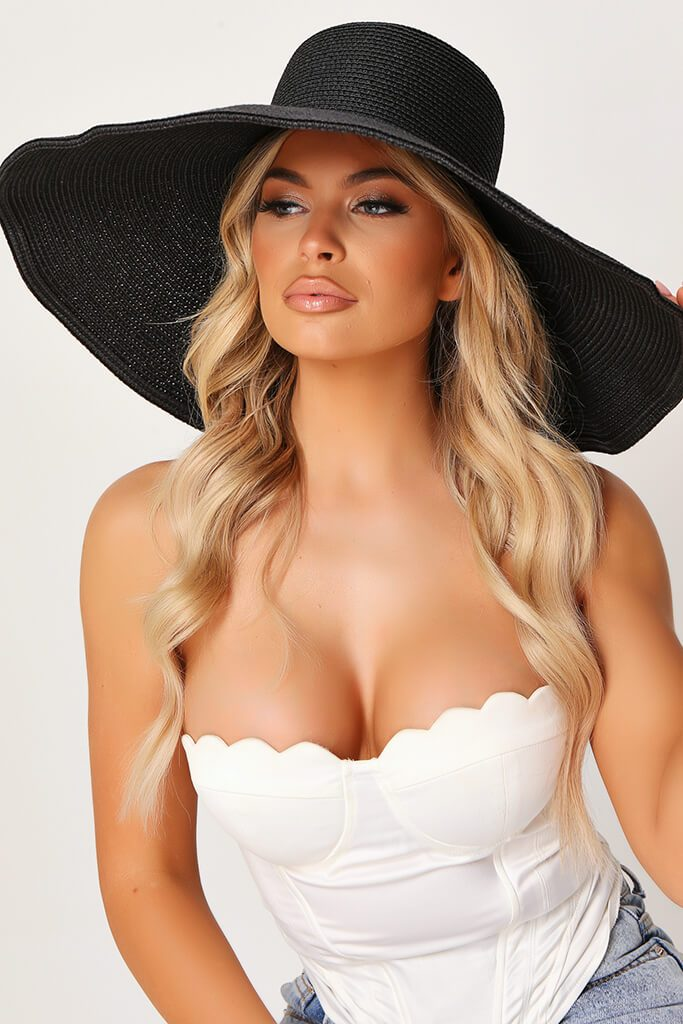 Black Large Sunhat view 2
