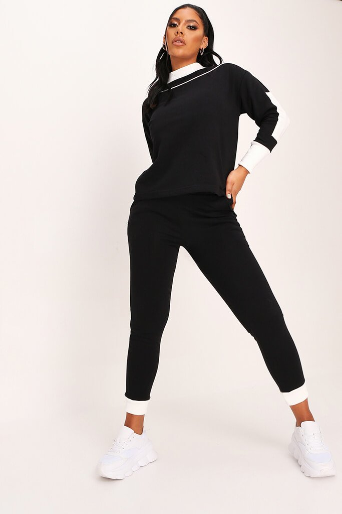 Black Knitted Loungewear Set