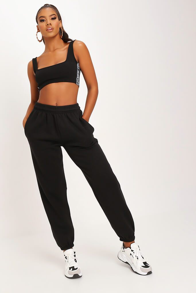 Black Oversized Jogger view main view