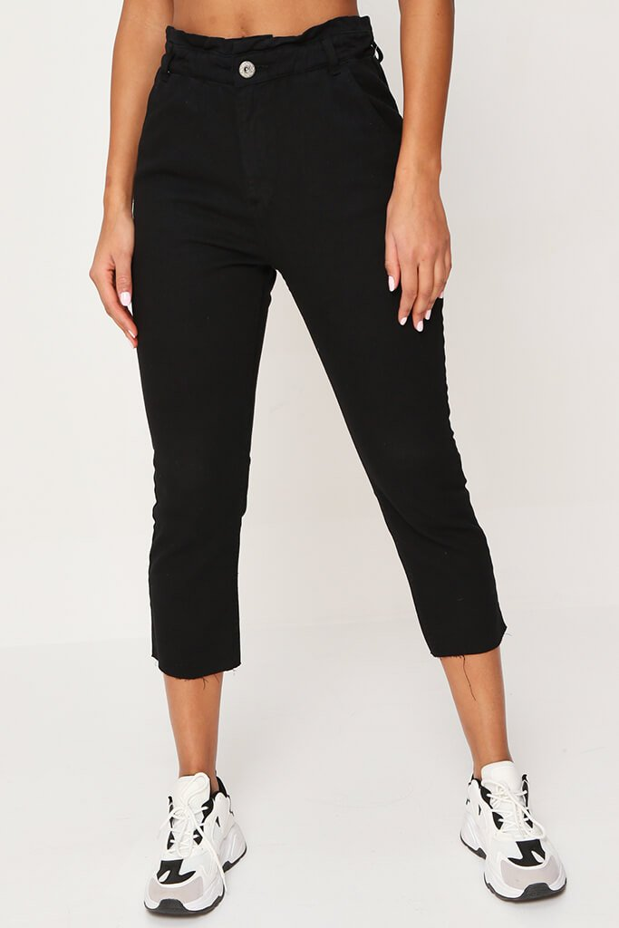 Black 90'S Elasticated Waist Jeans view 2