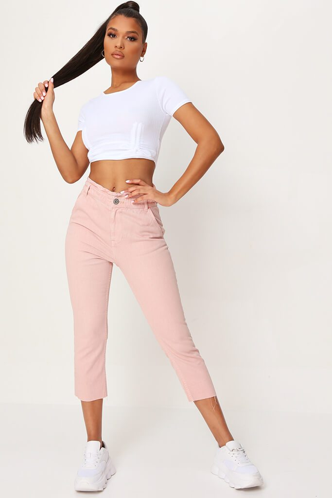 Pink 90'S Elasticated Waist Jeans view main view