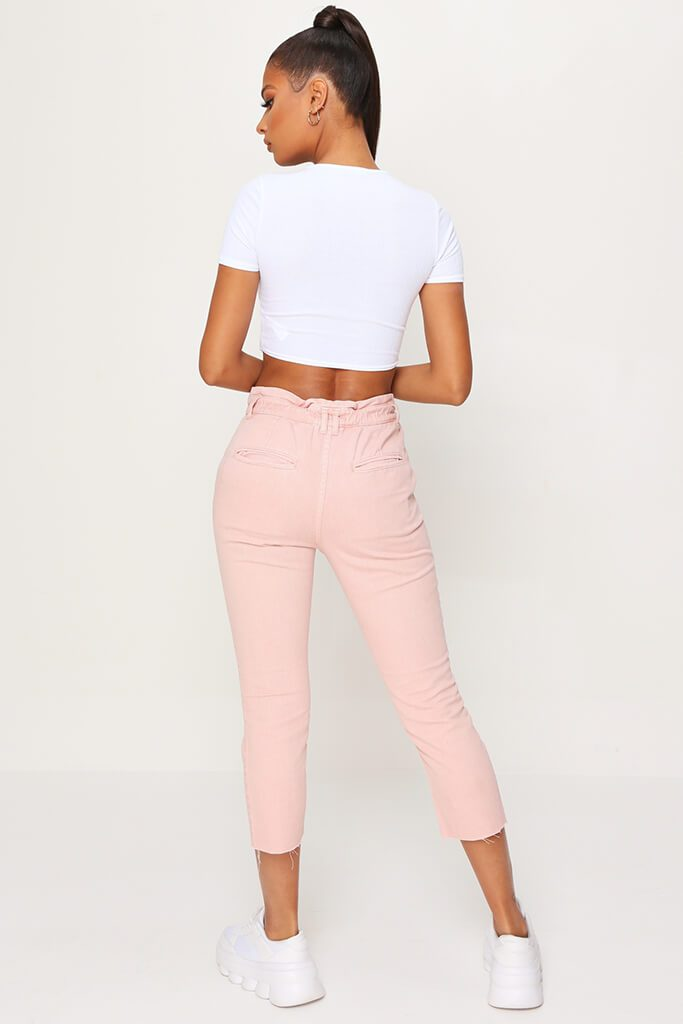 Pink 90'S Elasticated Waist Jeans view 5