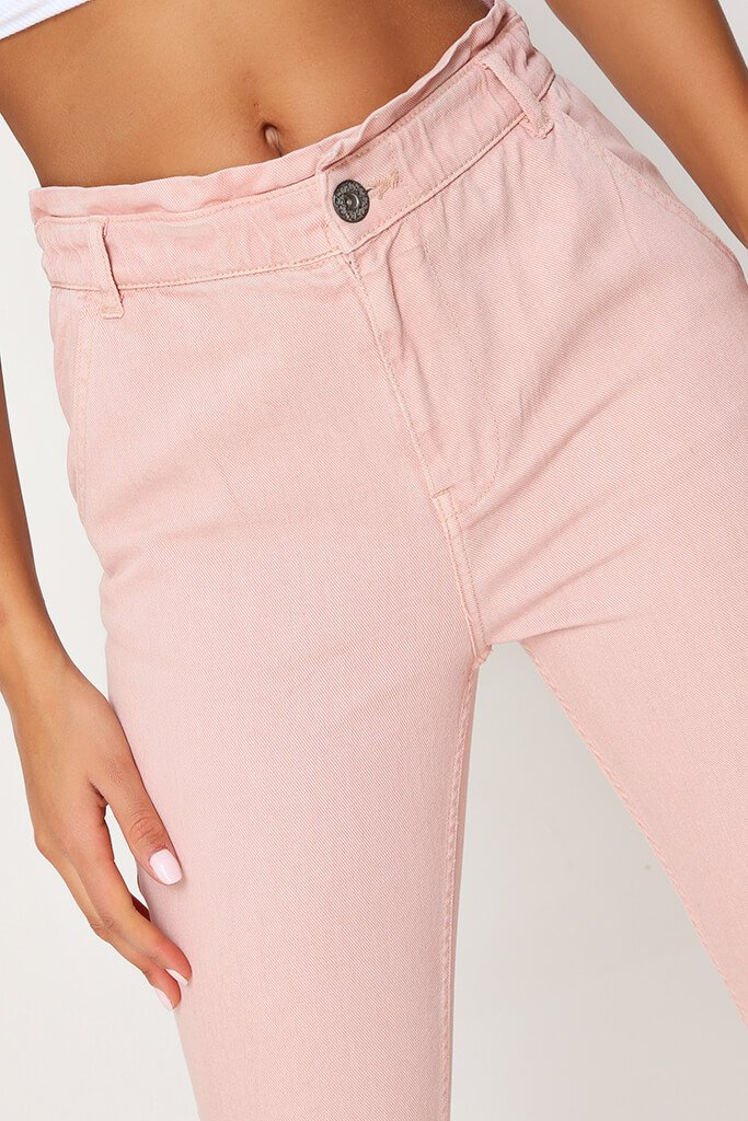 Pink 90'S Elasticated Waist Jeans view 4