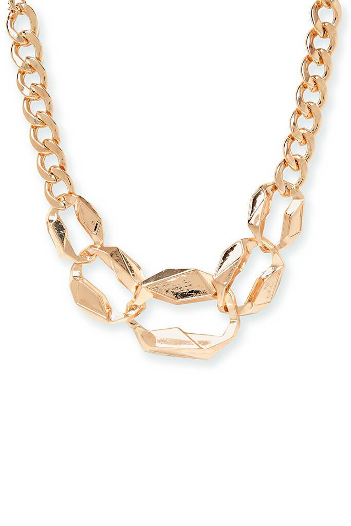Gold Multi Chunky Chain Choker view 3