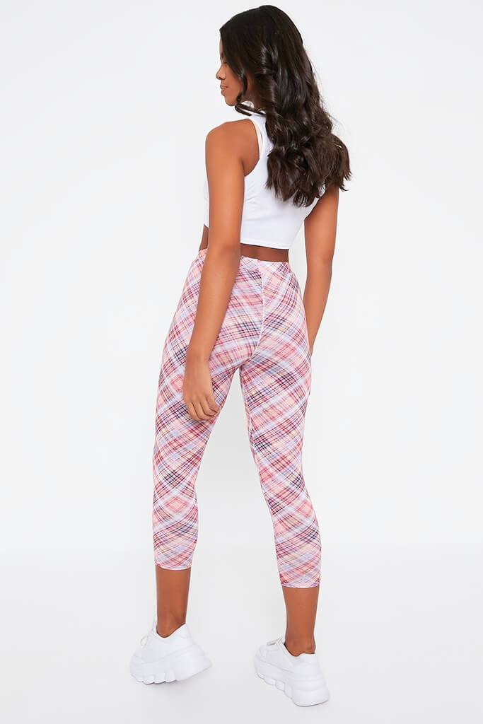 Pink Check Highwaisted Legging view 5