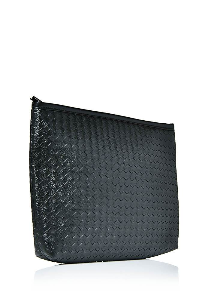 Black Weave Clutch Bag view 2
