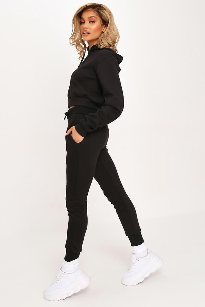 Black Tie Front Skinny Fit Jogger view 3