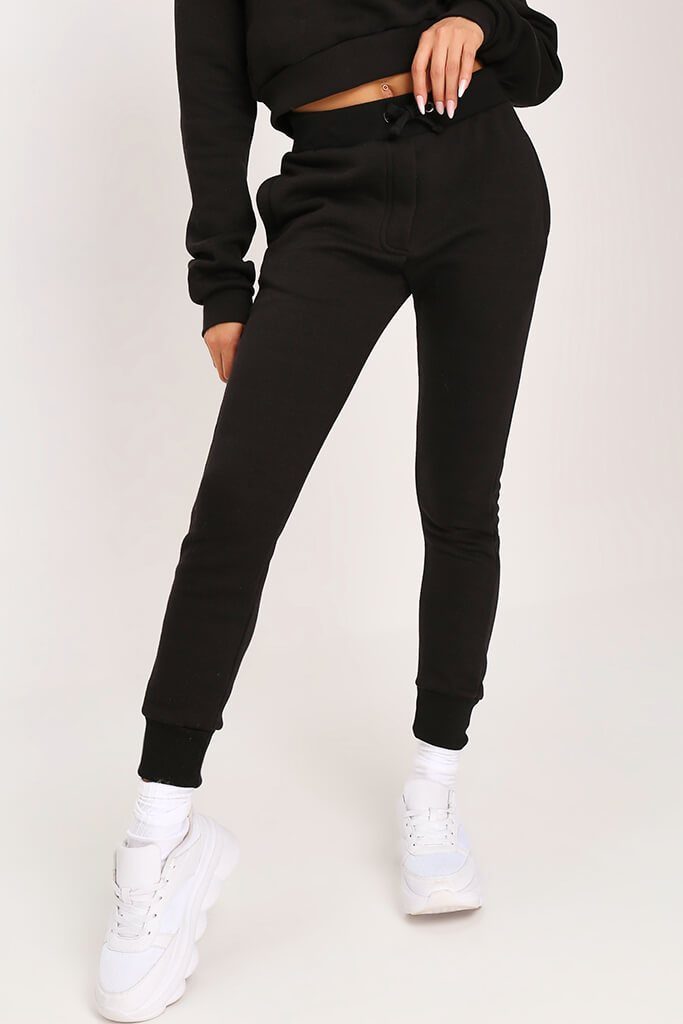 Black Tie Front Skinny Fit Jogger view 2