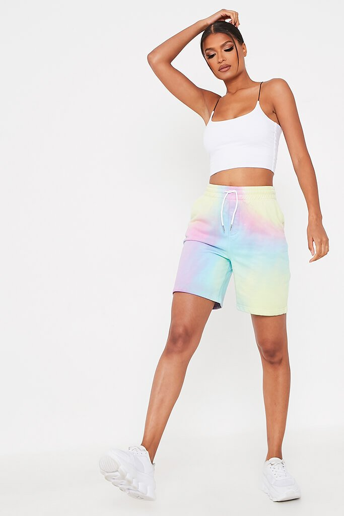 Multi Tie Dye Sweat Short view 2