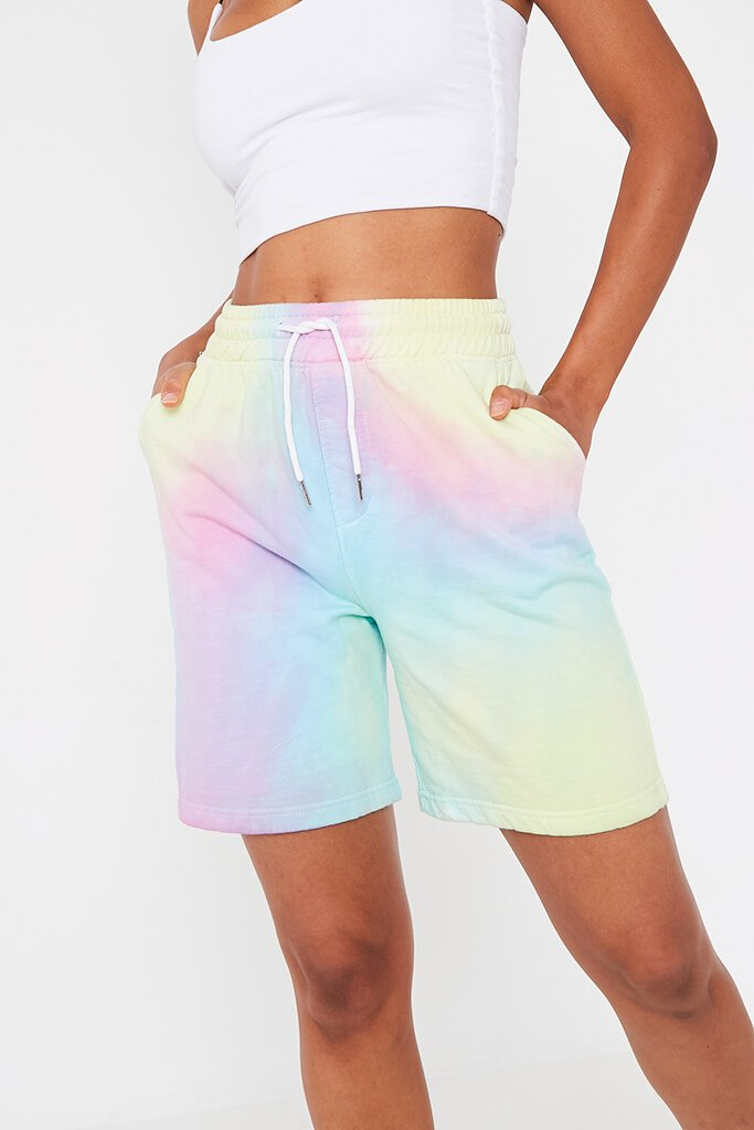 Multi Tie Dye Sweat Short view 4