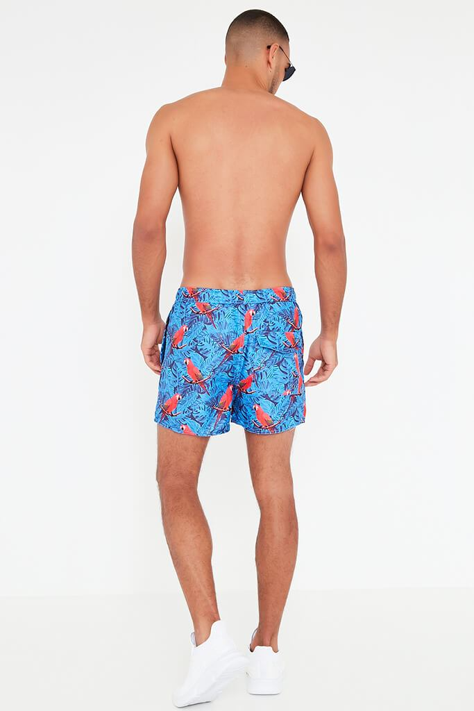 Multi Men's Parrot Printed Swim Short view 5