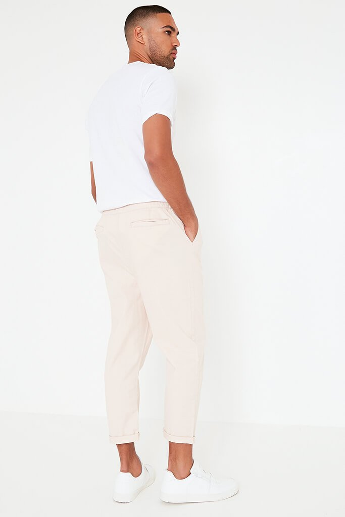 Pink Mens Loose Cropped Pull On Chino view 5