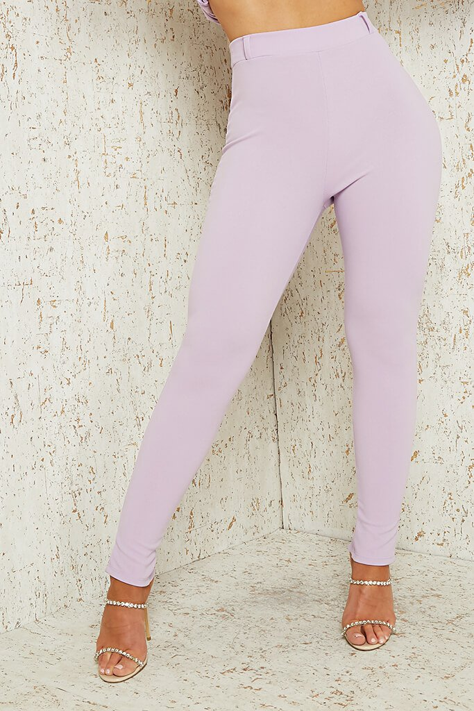 Lilac Skinny Split Back Trouser view 4