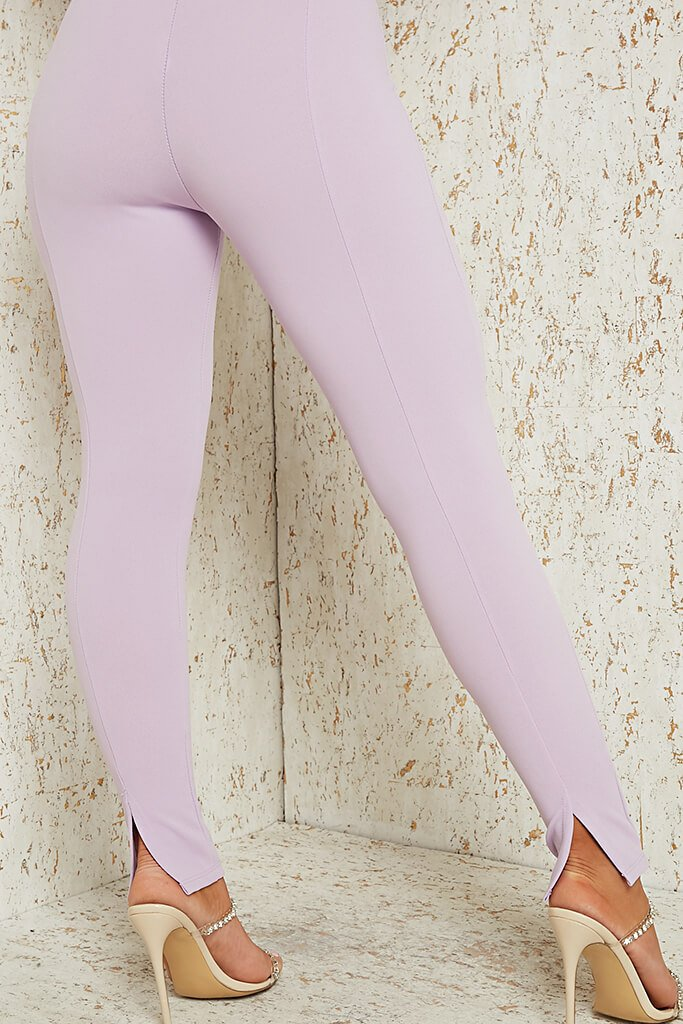 Lilac Skinny Split Back Trouser view 3