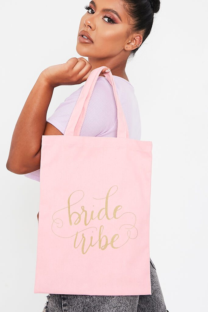 Baby Pink Bride Tribe Canvas Bag view main view