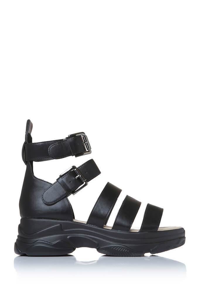 Black High Top Caged Sport Sandal view main view