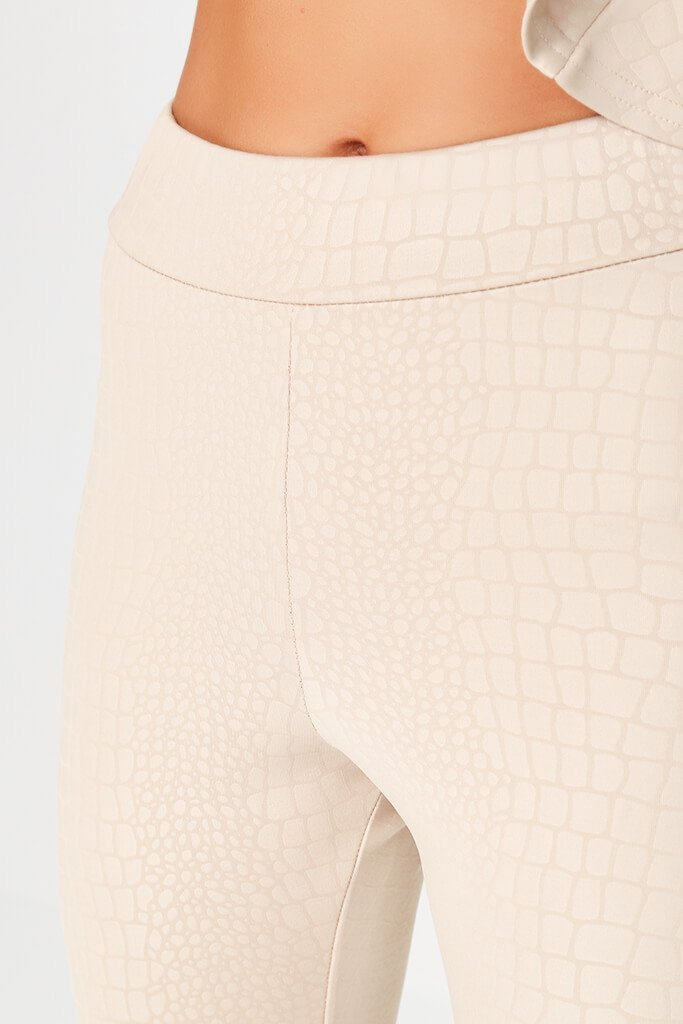 Nude Coated Croc Legging view 4