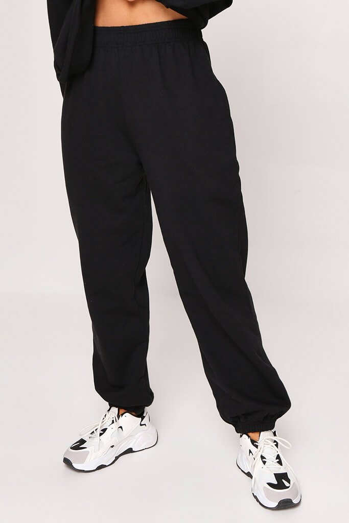 Black Basic Joggers view 2