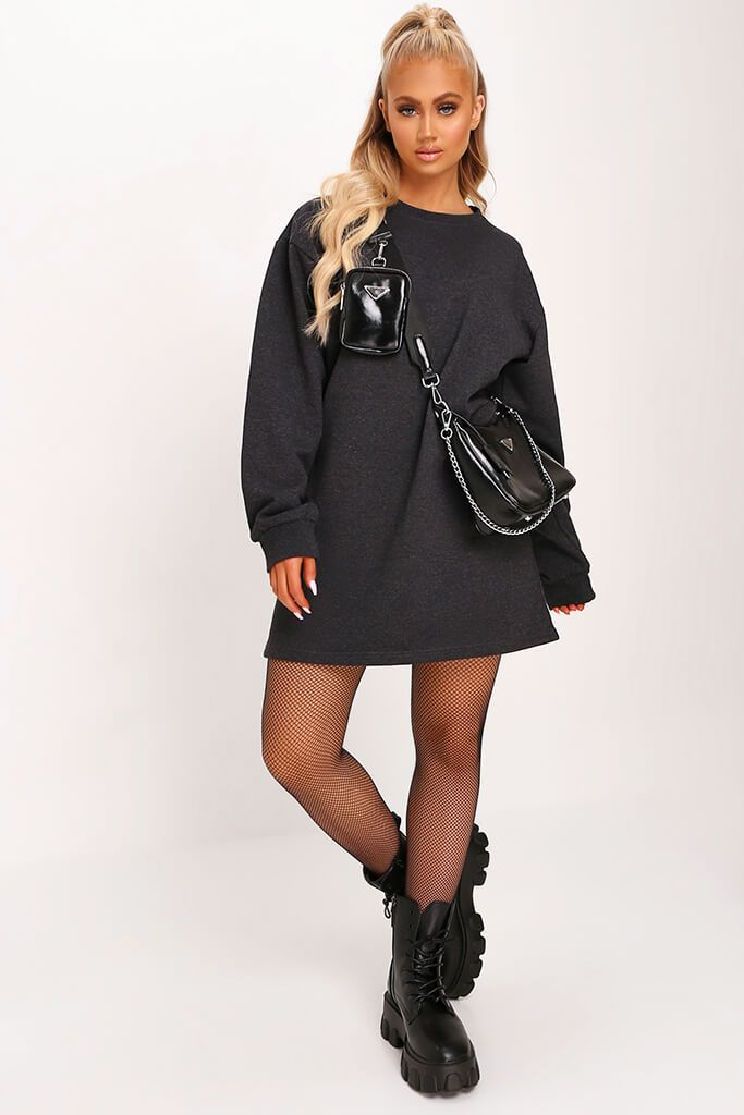 Charcoal Sweater Dress view 2