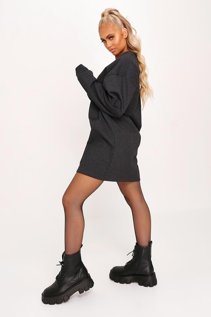 Charcoal Sweater Dress view 3