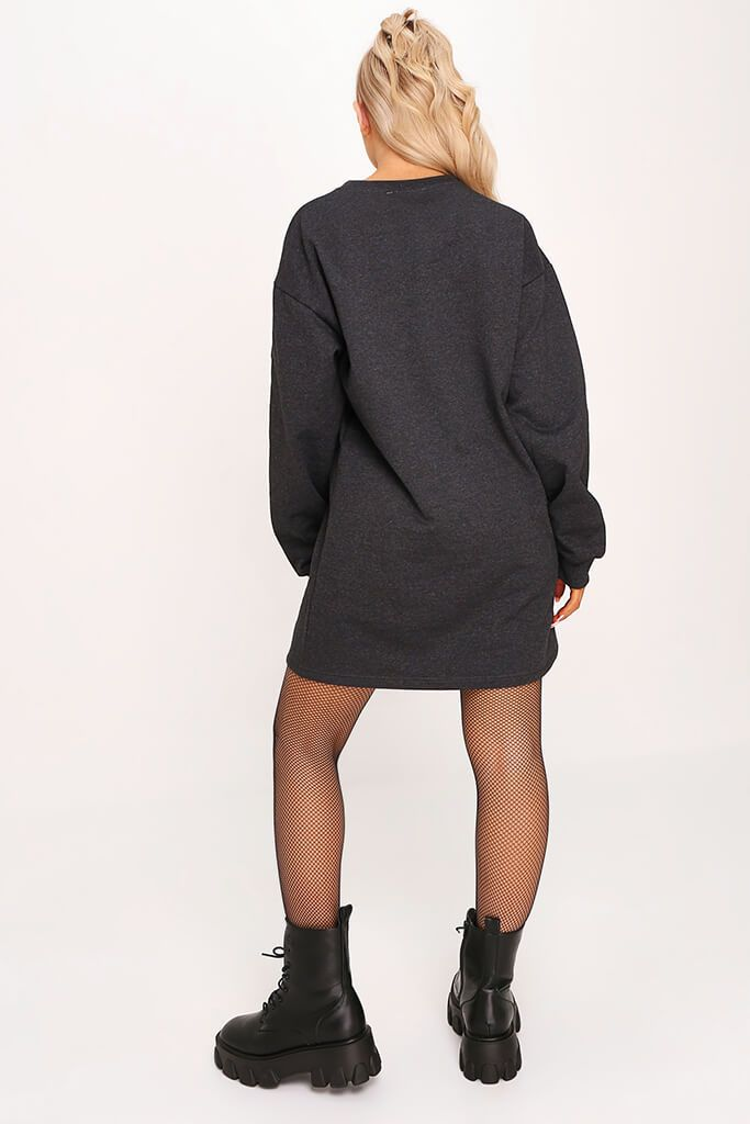 Charcoal Sweater Dress view 5
