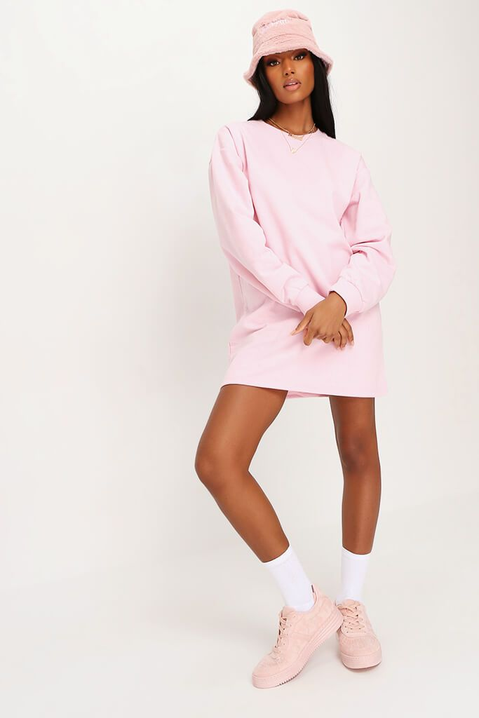 Baby Pink Sweater Dress