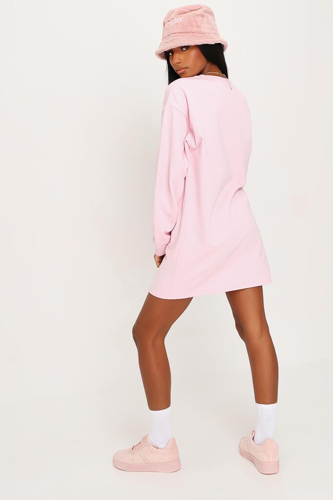 Baby Pink Sweater Dress view 5