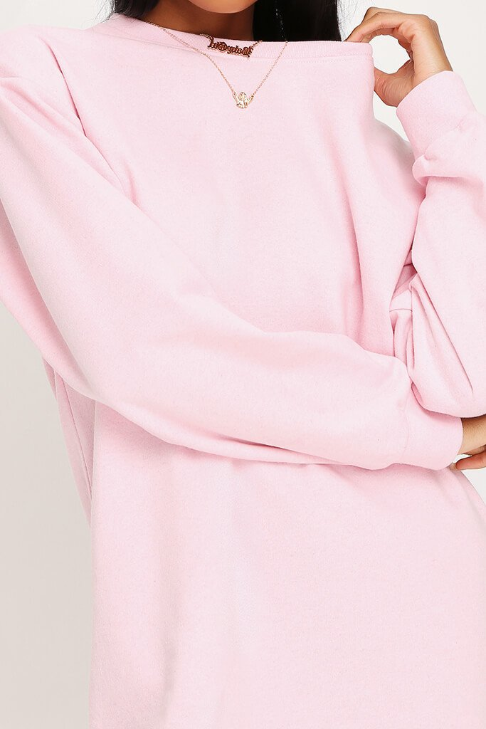 Baby Pink Sweater Dress view 4