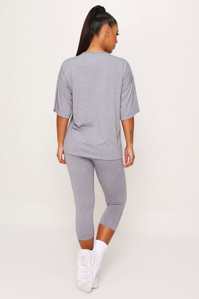 Grey T Shirt And Legging Set view 5