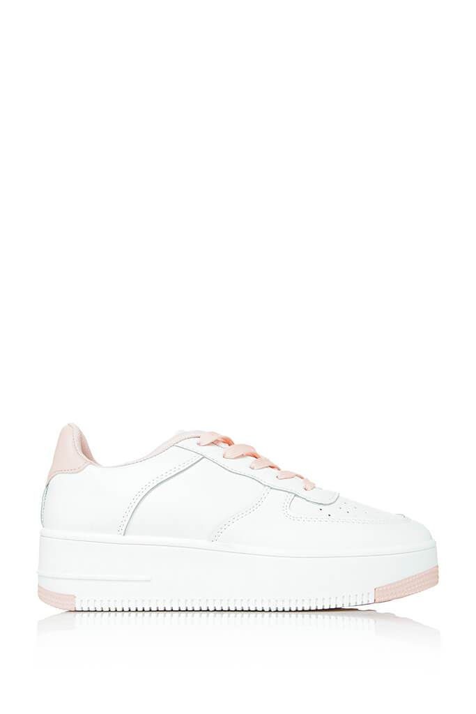 Baby Pink Block Colour Trainer view 4
