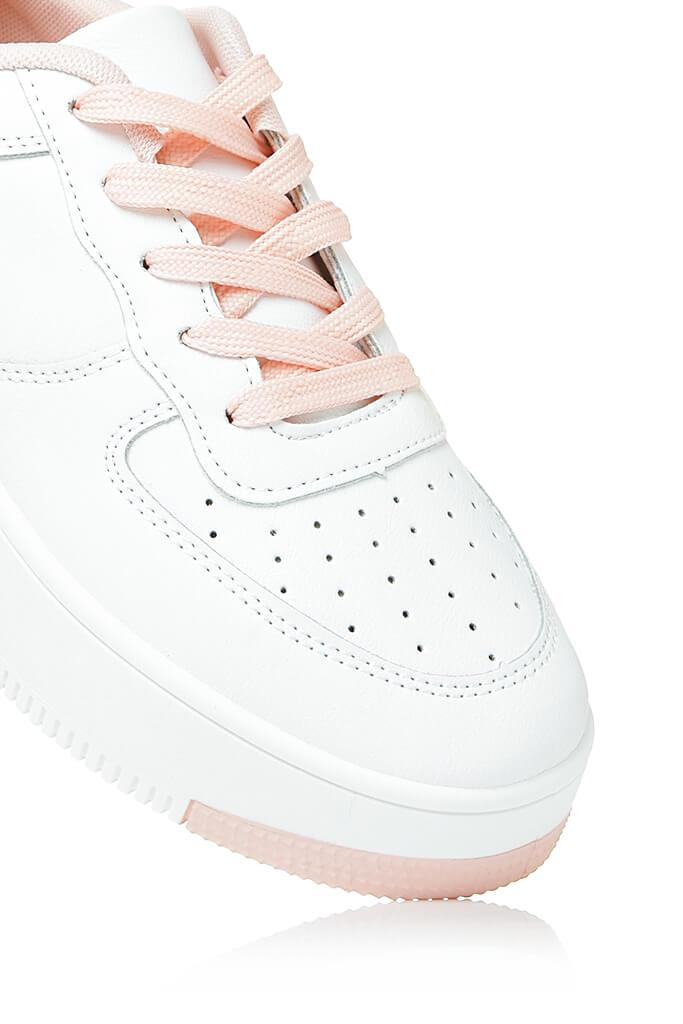 Baby Pink Block Colour Trainer view 5