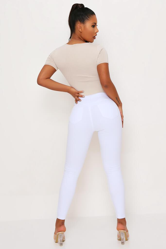 White 5 Pocket Skinny Leg Jean view 5