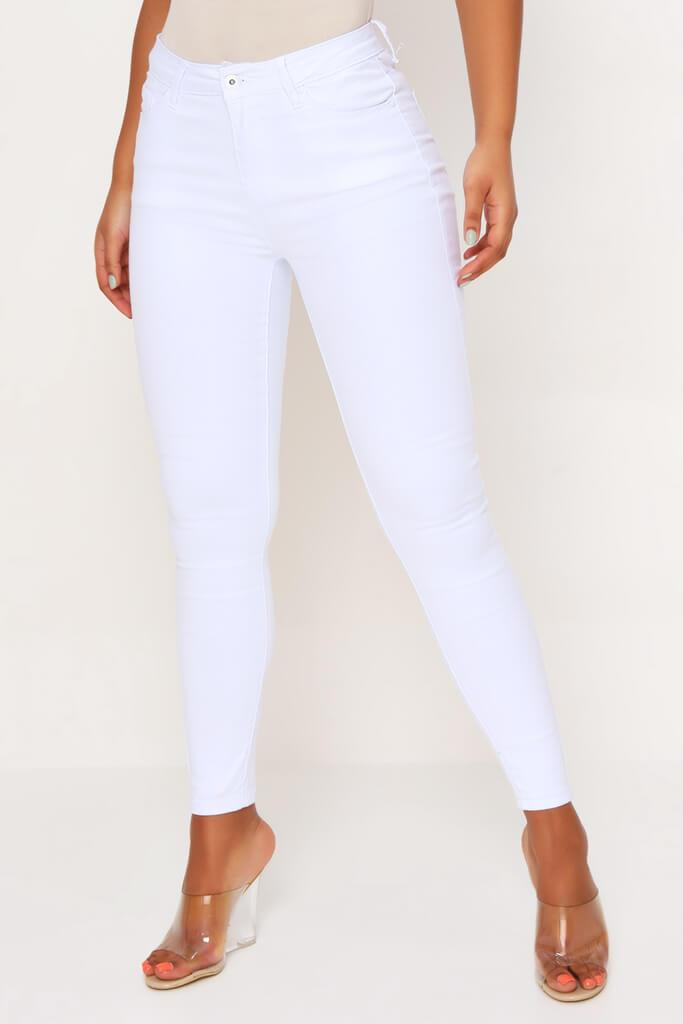 White 5 Pocket Skinny Leg Jean view 2