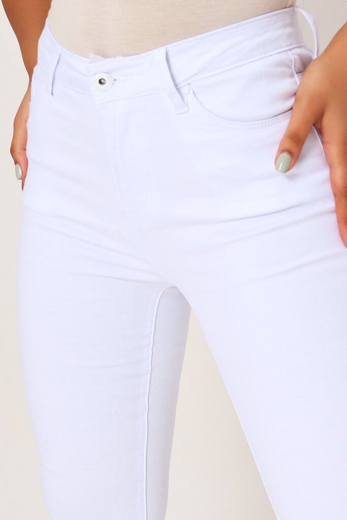 White 5 Pocket Skinny Leg Jean view 4