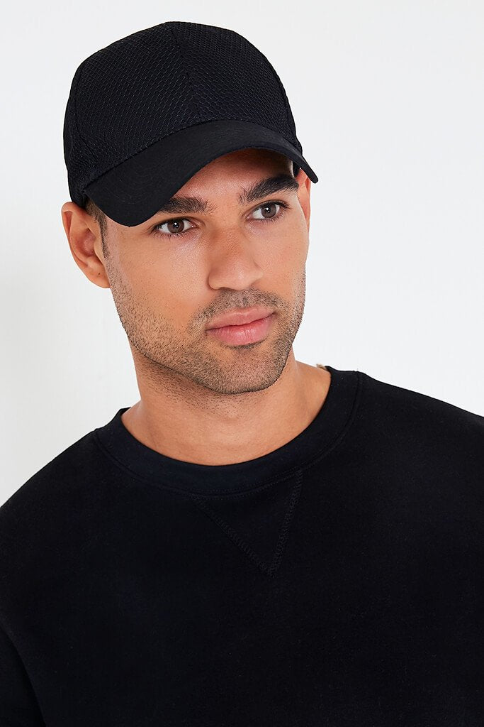 Black Mens Cap