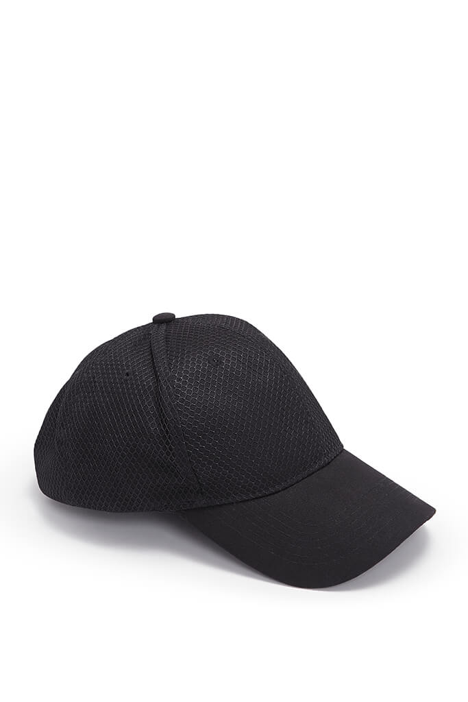 Black Mens Cap view 3
