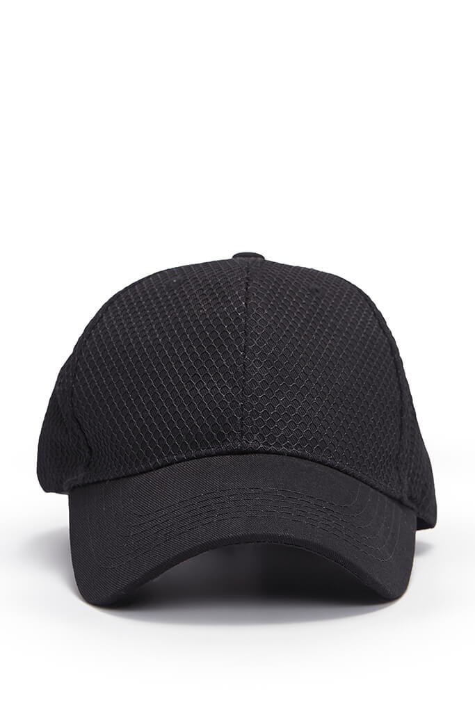 Black Mens Cap view 4