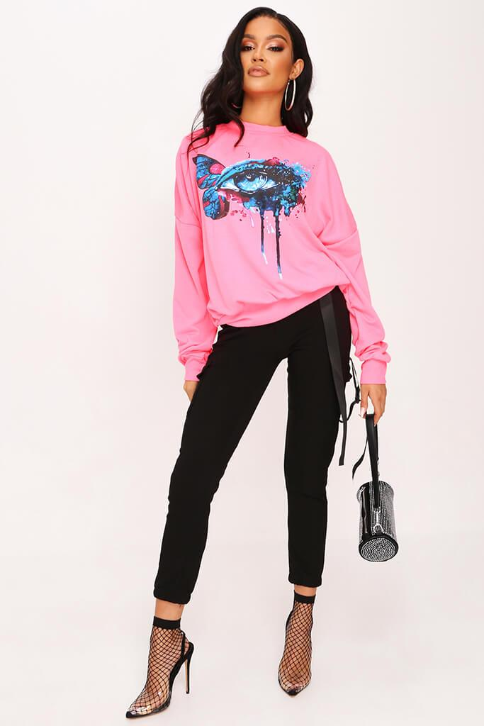 Neon Pink Graphic Sweatshirt view 2