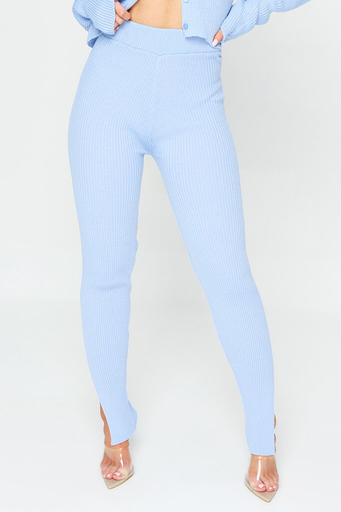 Baby Blue Knitted Legging view 2