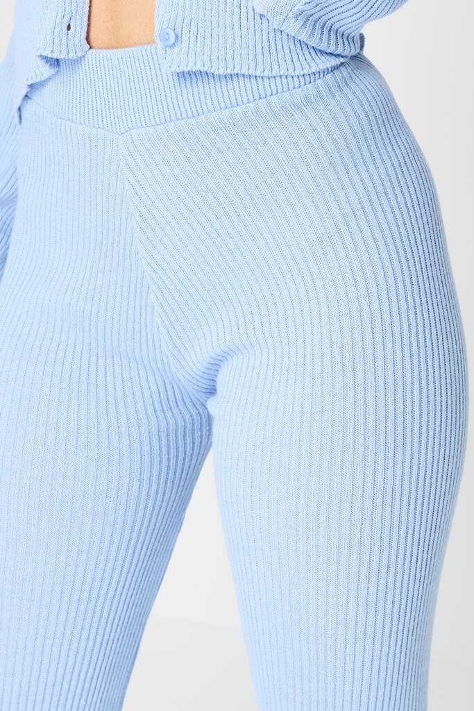 Baby Blue Knitted Legging view 4