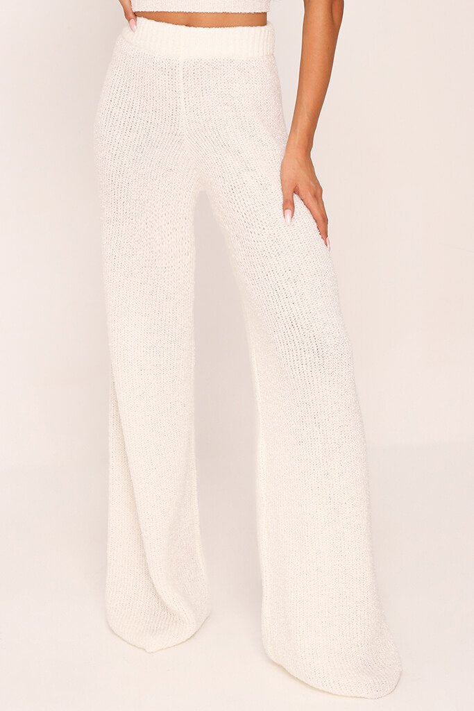 Cream Cosy Knitted Trouser view 2