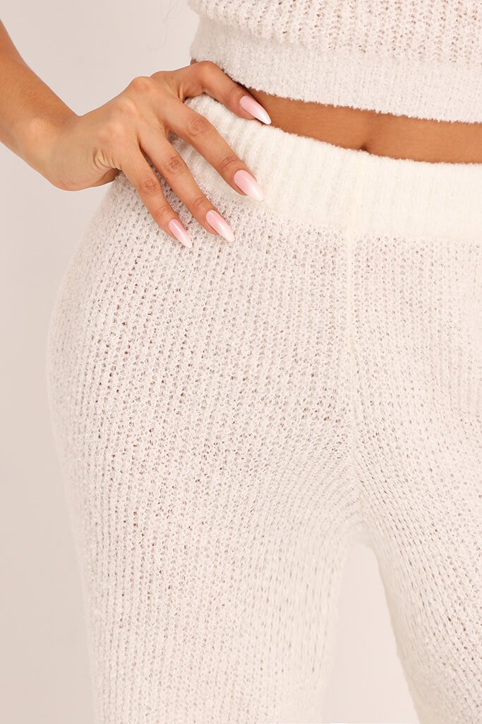 Cream Cosy Knitted Trouser view 4