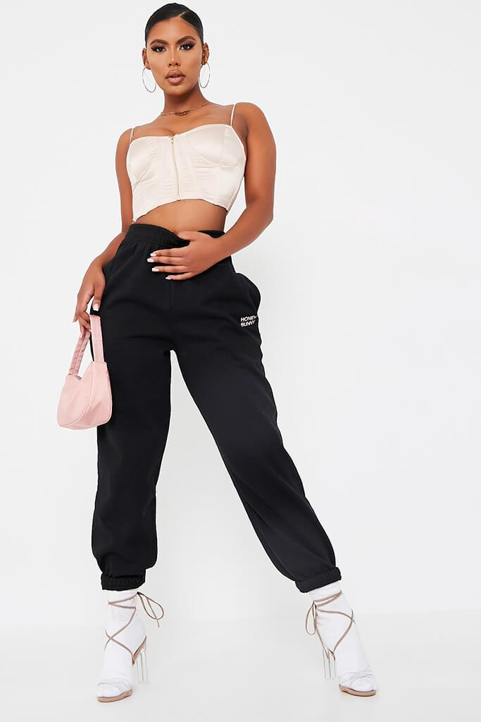Black Honey Bunny Oversize Jogger