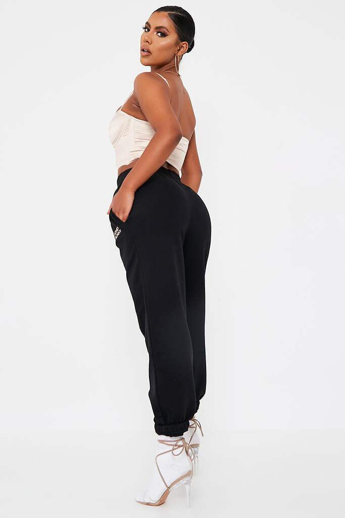 Black Honey Bunny Oversize Jogger view 3