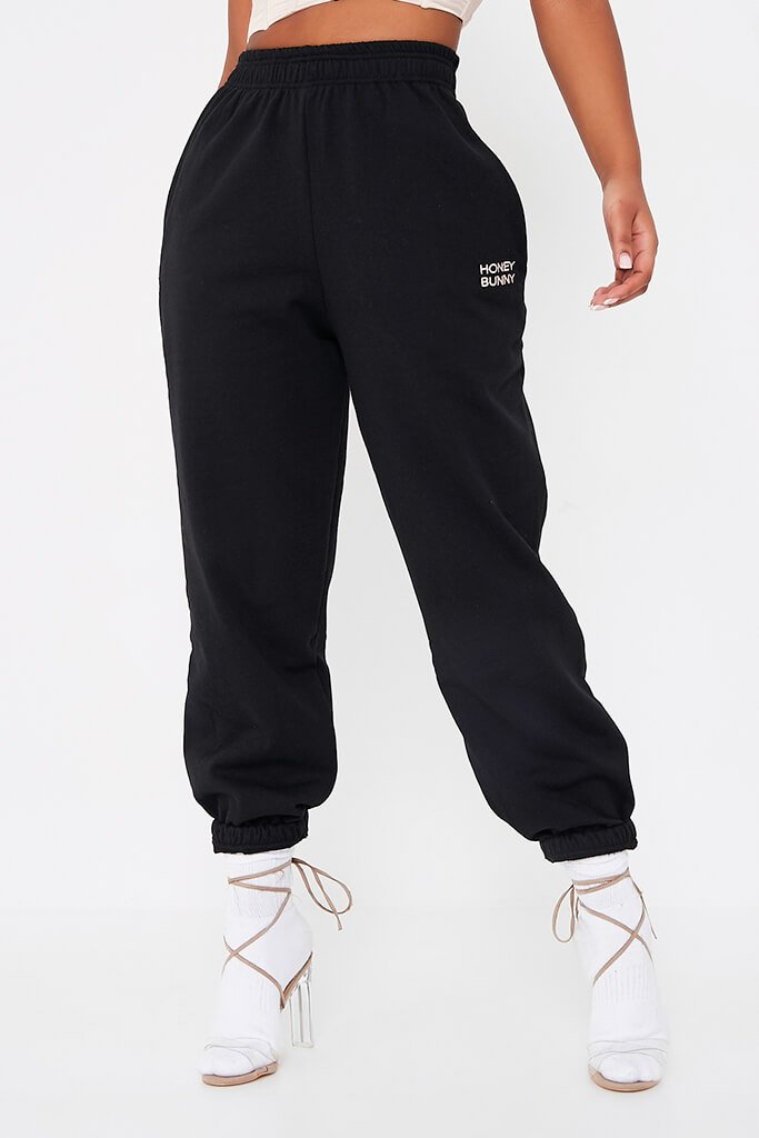 Black Honey Bunny Oversize Jogger view 2